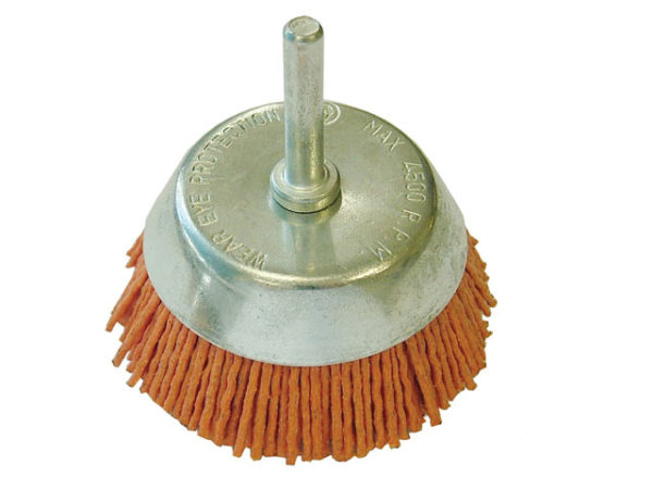 Nylon Wheel Cup Brush 65mm x 6mm Shank