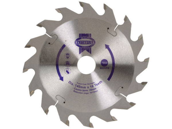 TCT Circular Saw Blade 140 x 20mm x 16T POS