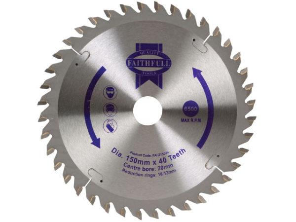TCT Circular Saw Blade 150 x 20mm x 40T POS