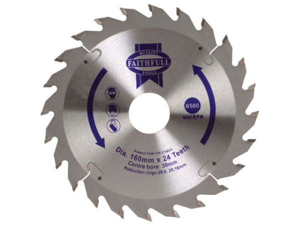 TCT Circular Saw Blade 160 x 30mm x 24T POS