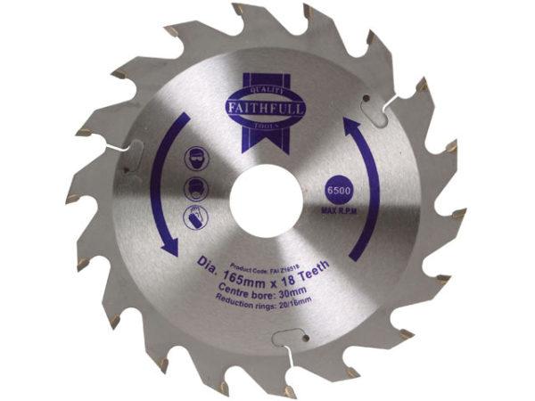 TCT Circular Saw Blade 165 x 30mm x 18T POS