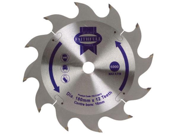 TCT Circular Saw Blade 180 x 16mm x 12T POS