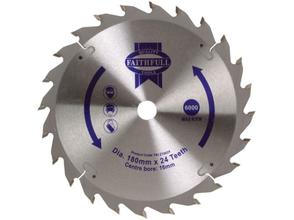 TCT Circular Saw Blade 180 x 16mm x 24T POS
