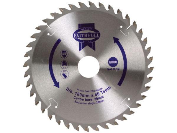 TCT Circular Saw Blade 180 x 30mm x 40T POS
