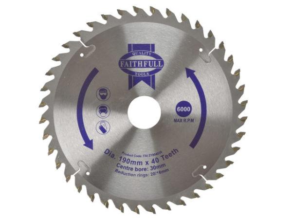 TCT Circular Saw Blade 190 x 30mm x 40T POS
