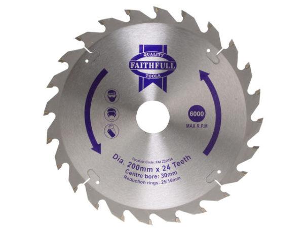 TCT Circular Saw Blade 200 x 30mm x 24T POS