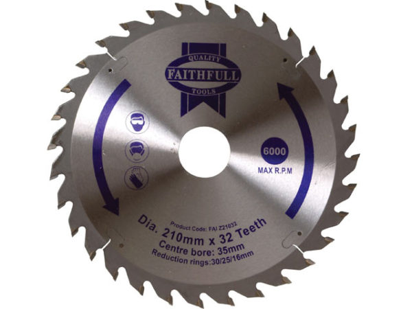 TCT Circular Saw Blade 210 x 35mm x 32T POS