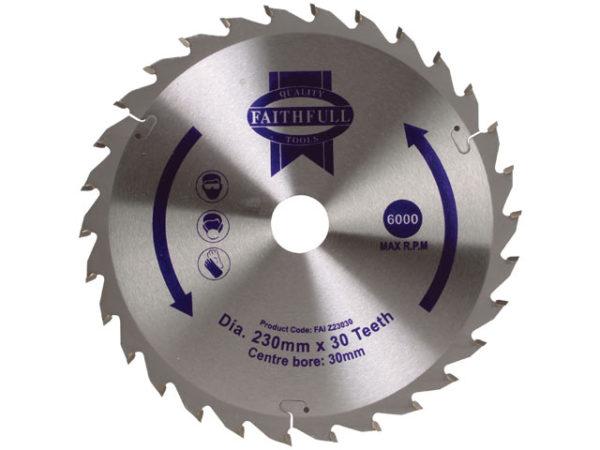 TCT Circular Saw Blade 230 x 30mm x 30T POS