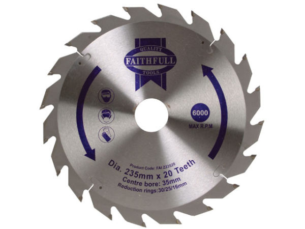 TCT Circular Saw Blade 235 x 35mm x 20T POS