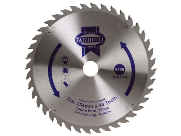 TCT Circular Saw Blade 254 x 30mm x 40T POS