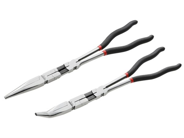Double Jointed Extra Long Half-Round Nose Pliers Set