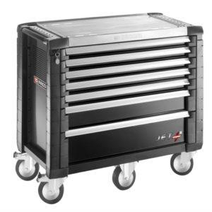JET.7GM5 Roller Cabinet 7 Drawers Black
