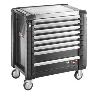 Jet.8GM4 Roller Cabinet 8 Drawer Black