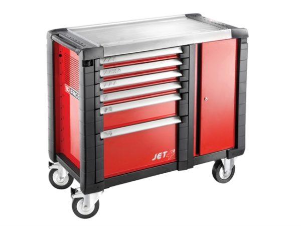 Jet.T6M3 Mobile Work Bench 6 Drawer Red