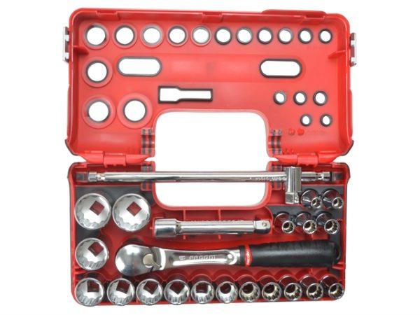 12Pt Detection Box Socket Set 22 Piece Metric 1/2in Drive