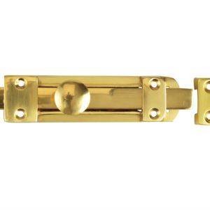 Heavy-Duty Door Bolt - Brass 150mm (6in)