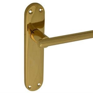 Backplate Handle Latch - Modular Brass Finish