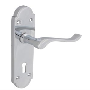 Backplate Handle Lock - Gable Chrome Finish