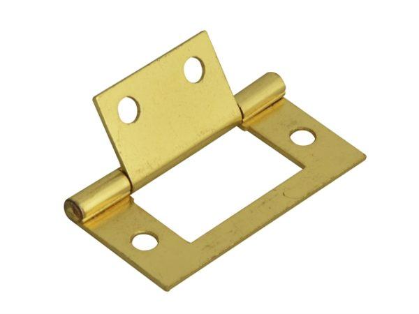 Flush Hinge Brass Finish 50mm (2in) Pack of 2