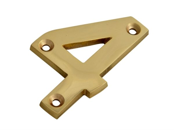 Numeral No.4 - Brass Finish 75mm (3in)