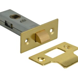 Tubular Mortice Latch Brass Finish 76mm (3in)