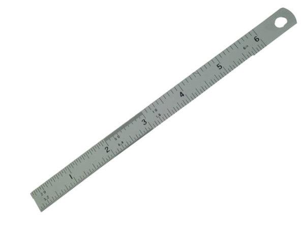 Satin Chrome Rule 150mm / 6in