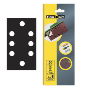 1/3 Sanding Sheets Quick Release Fine 120 Grit (Pack of 6)
