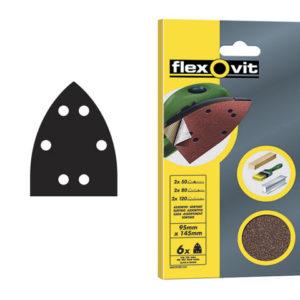 Detail Hook & Loop Sanding Sheets 95x145mm Fine 120G (Pack of 6)