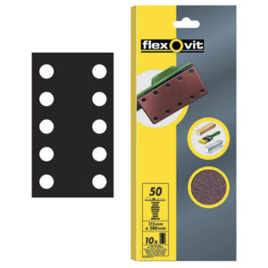 1/2 Sanding Sheets Perforated Coarse 50 Grit (Pack of 10)