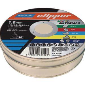 Clipper® Multi-Materials Cutting Discs 115 x 22.23mm (Pack of 10)