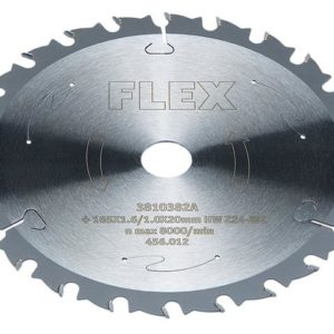 Circular Saw Blade with Alternating Teeth 165 x 20mm x 24T