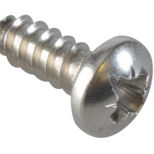 Self-Tapping Screw Pozi Pan A2 SS 1/2in x 8 ForgePack 40