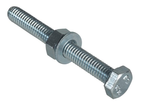 High Tensile Set Screw ZP M6 x 50mm Forge Pack 6