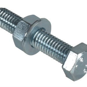 High Tensile Set Screw ZP M8 x 40mm Forge Pack 4