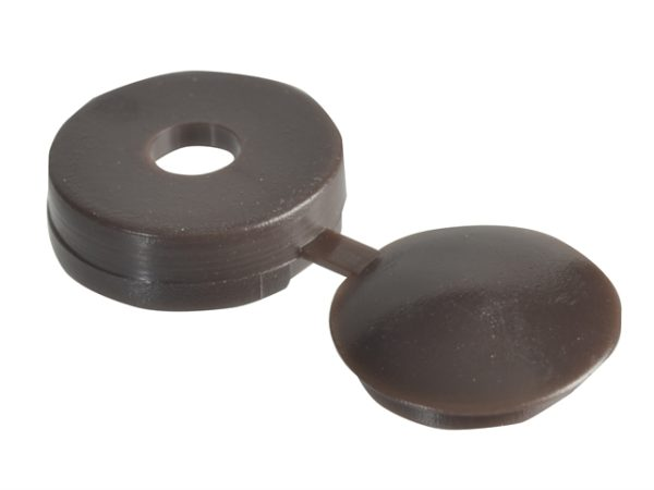 Hinged Cover Caps Dark Brown No.6-8 Forge Pack 20