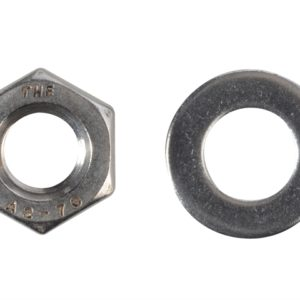 Hexagonal Nuts & Washers A2 Stainless Steel M10 Forge Pack 8