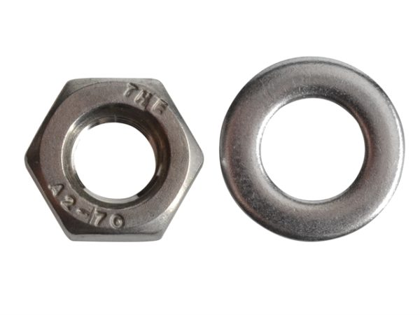 Hexagonal Nuts & Washers A2 Stainless Steel M6 Forge Pack 20