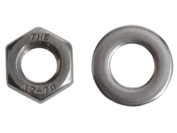 Hexagonal Nuts & Washers A2 Stainless Steel M8 Forge Pack 12