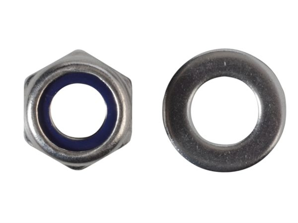 Nyloc Nuts & Washers A2 Stainless Steel M10 Forge Pack 8