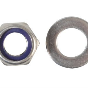 Nyloc Nuts & Washers A2 Stainless Steel M12 Forge Pack 6