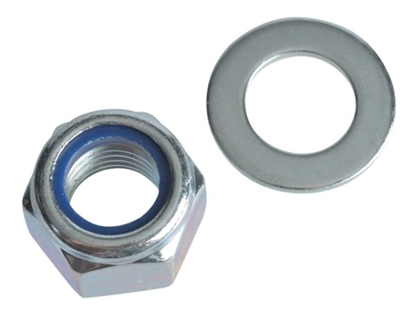 Nyloc Nuts & Washers Zinc Plated M20 Forge Pack 2