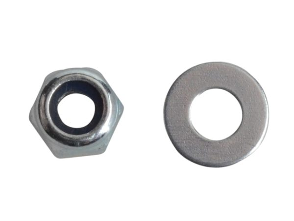 Nyloc Nuts & Washers Zinc Plated M3 Forge Pack 60