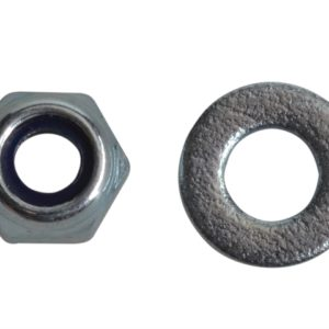 Nyloc Nuts & Washers Zinc Plated M4 Forge Pack 50