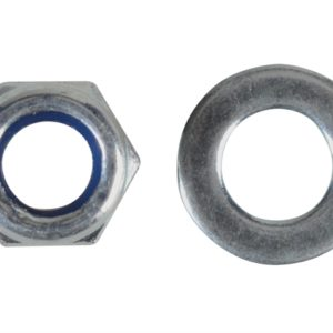 Nyloc Nuts & Washers Zinc Plated M5 Forge Pack 40