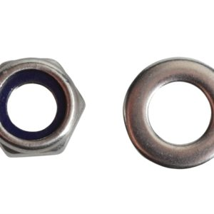 Nyloc Nuts & Washers A2 Stainless Steel M6 Forge Pack 20
