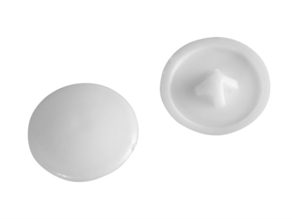 Domed Cover Cap White No. 6-8 Forge Pack 20