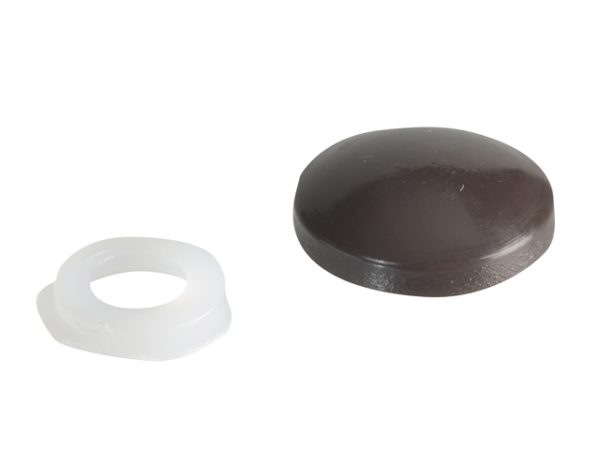 Domed Cover Cap Dark Brown No. 6-8 Forge Pack 20