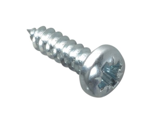 Self-Tapping Screw Pozi Pan Head ZP 1/2in x 6 Forge Pack 60