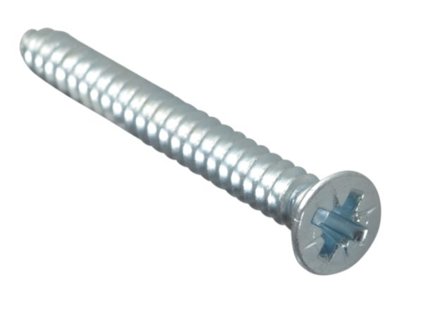 Self-Tapping Screw Pozi CSK ZP 1.1/2in x 8 Forge Pack 12
