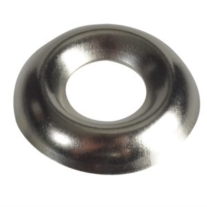 Screw Cup Washers Nickle Plated No.10 Forge Pack 20
